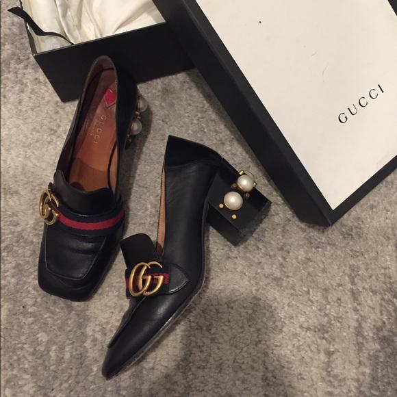 Gucci Shoes   Gucci Pearl Heels   Poshmark